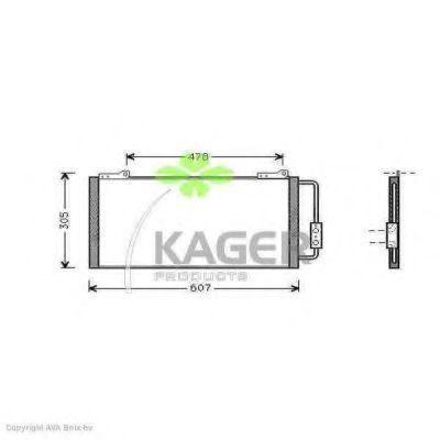 Конденсор кондиционера KAGER 945035