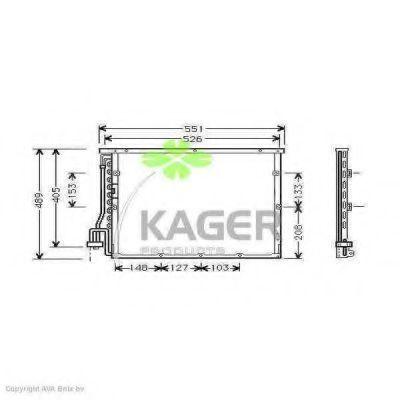 Конденсор кондиционера KAGER 945040