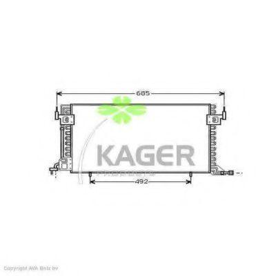 Конденсор кондиционера KAGER 945064