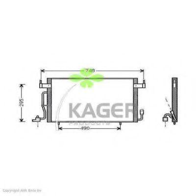 Конденсор кондиционера KAGER 945067