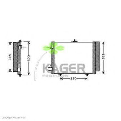 Конденсор кондиционера KAGER 945071