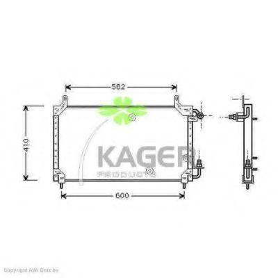 Конденсор кондиционера KAGER 945096