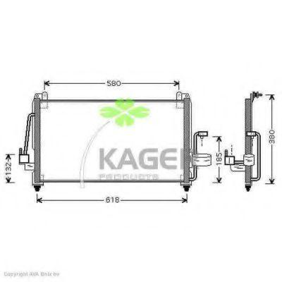 Конденсор кондиционера KAGER 945101