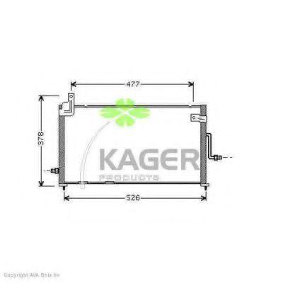 Конденсор кондиционера KAGER 945102