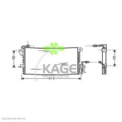 Конденсор кондиционера KAGER 945107