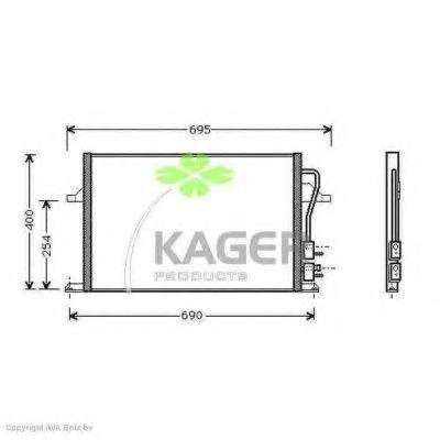 Конденсор кондиционера KAGER 945110