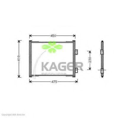 Конденсор кондиционера KAGER 945111