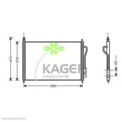 Конденсор кондиционера KAGER 945112