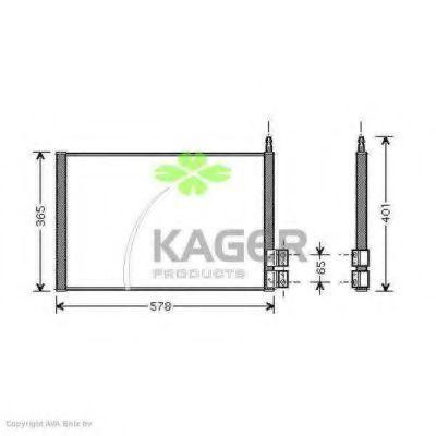 Конденсор кондиционера KAGER 945117