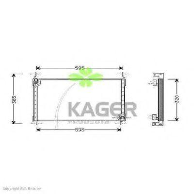 Конденсор кондиционера KAGER 945132