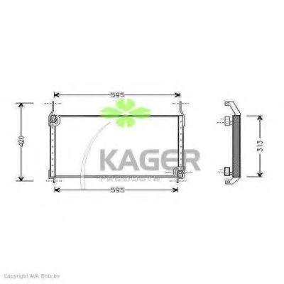 Конденсор кондиционера KAGER 945139