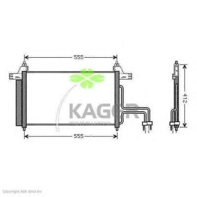 Конденсор кондиционера KAGER 945154