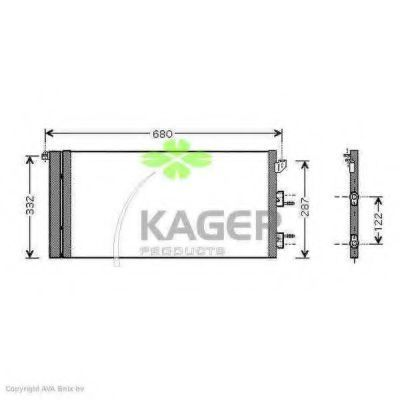 Конденсор кондиционера KAGER 945158