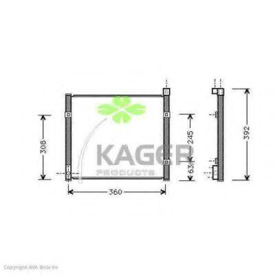 Конденсор кондиционера KAGER 945165