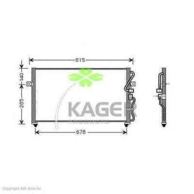 Конденсор кондиционера KAGER 945187