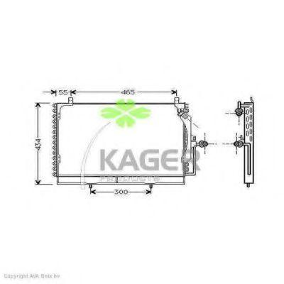 Конденсор кондиционера KAGER 945192