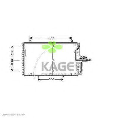 Конденсор кондиционера KAGER 945193
