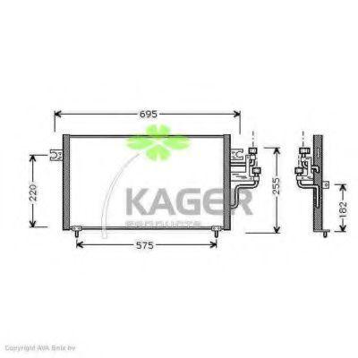 Конденсор кондиционера KAGER 945232