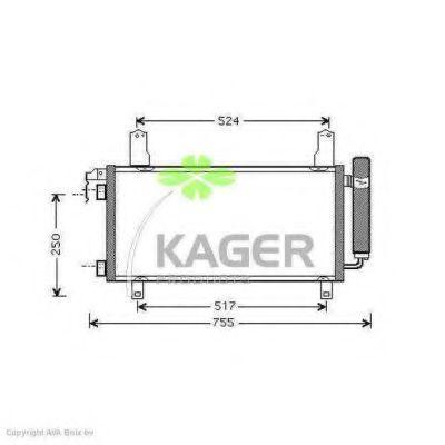 Конденсор кондиционера KAGER 945248