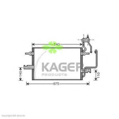 Конденсор кондиционера KAGER 945271
