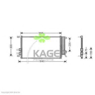 Конденсор кондиционера KAGER 945777