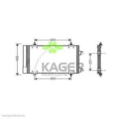 Конденсор кондиционера KAGER 945790