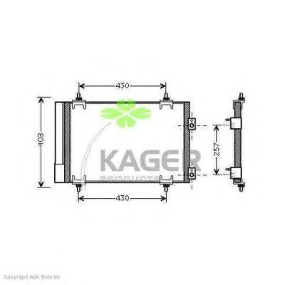 Конденсор кондиционера KAGER 945791