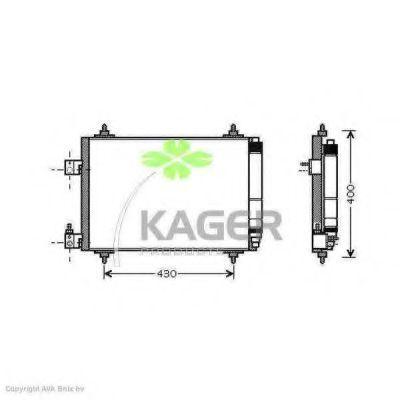 Конденсор кондиционера KAGER 945794