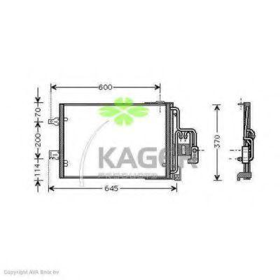 Конденсор кондиционера KAGER 945937