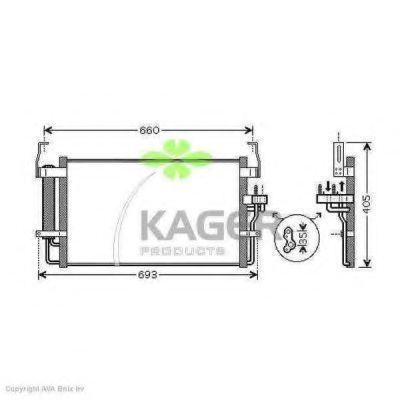 Конденсор кондиционера KAGER 945960