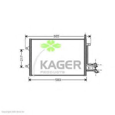 Конденсор кондиционера KAGER 945980