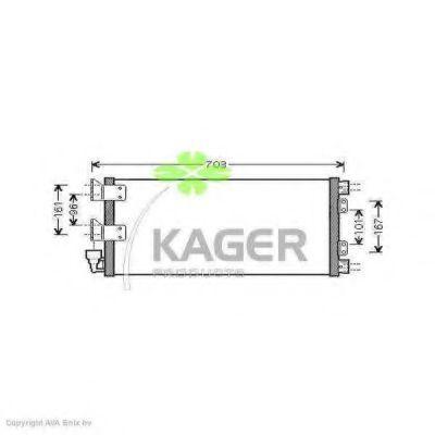 Конденсор кондиционера KAGER 945995