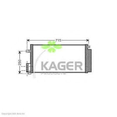 Конденсор кондиционера KAGER 946006