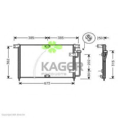 Конденсор кондиционера KAGER 946064