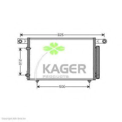 Конденсор кондиционера KAGER 946088