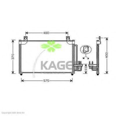 Конденсор кондиционера KAGER 946236