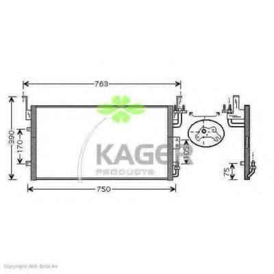 Конденсор кондиционера KAGER 946281