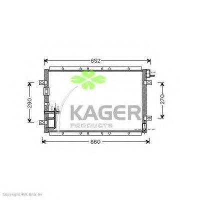 Конденсор кондиционера KAGER 946283