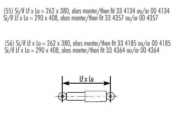 Амортизатор подвески RECORD FRANCE 004134