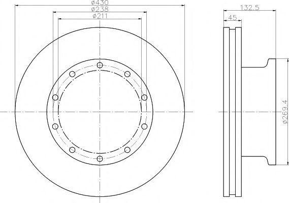 Тормозной диск DON CVD552