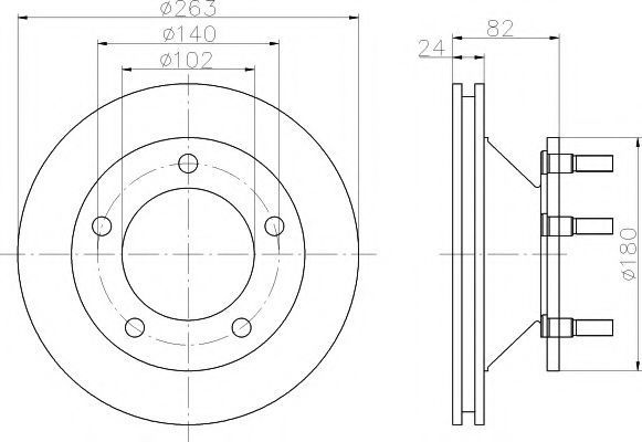 Тормозной диск DON CVD567