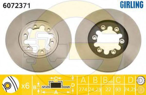 Тормозной диск GIRLING 6072371