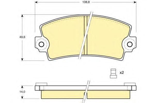 Комплект тормозных колодок, дисковый тормоз GIRLING 6101483