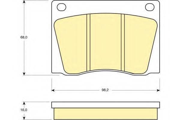 Комплект тормозных колодок, дисковый тормоз GIRLING 6105311