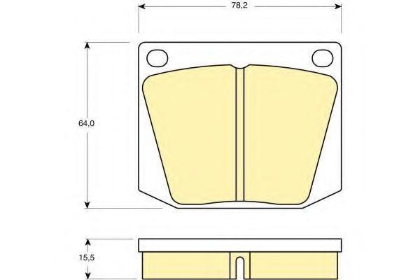 Комплект тормозных колодок, дисковый тормоз GIRLING 6105411