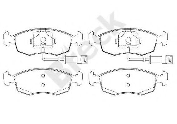 Купить Колодки тормозные BRECK 209070070210