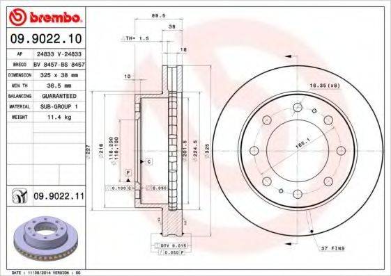 Тормозной диск AP 24833V