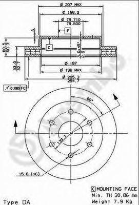 Тормозной диск AP 29154E