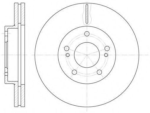 Тормозной диск KAWE 6124210