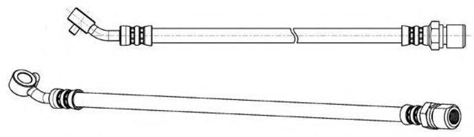 Тормозной шланг KAWE 512657